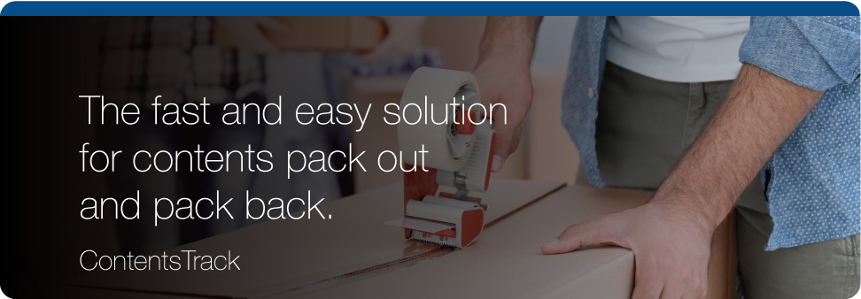 The fast and easy solution for contents pack out and pack back.