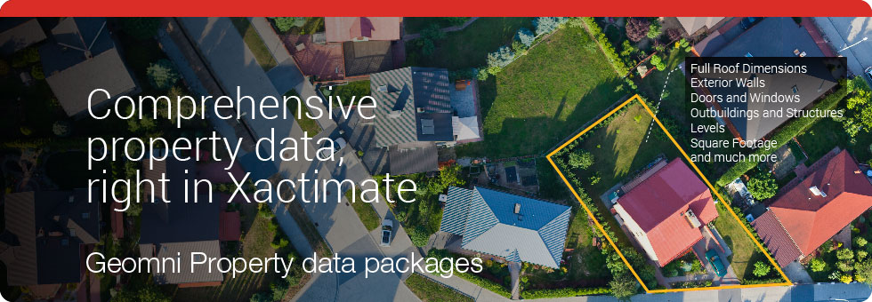 Comprehensive Property Data Right in Xactimate