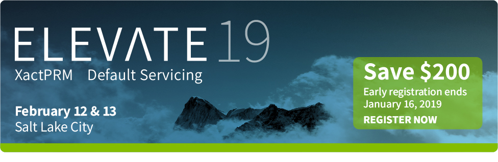 Elevate 2019 - Save $200 - Early Registration ends January 16, 2019 - Register Today
