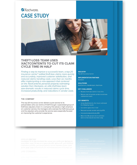 Download XactContents Theft Loss Case Study