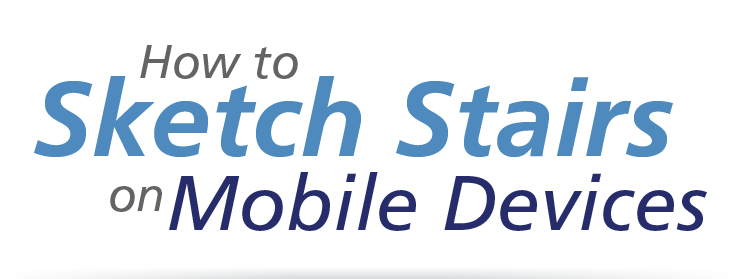 How to Sketch Stairs on Mobile Devices