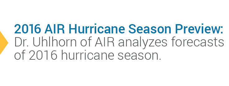 2016 AIR Hurricane Season Preview