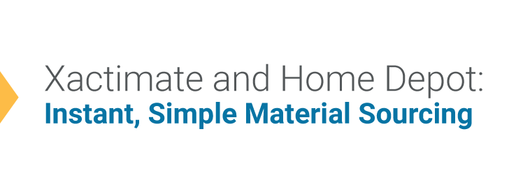 Xactimate And Home Depot Instant Simple Material Sourcing