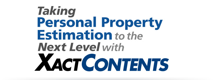 Taking Personal Property Estimation to the Next Level with XactContents